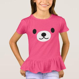 Camiseta El oso del peluche rosado del chica riza la