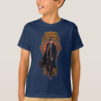Camiseta El panel de Nouveau del arte del NEWT que camina