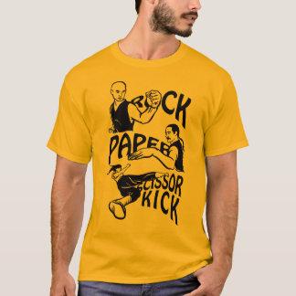 Camiseta El papel de la roca de Kung Fu Scissor