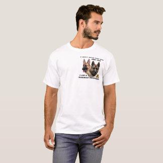 Camiseta El pastor alemán vivo y muere