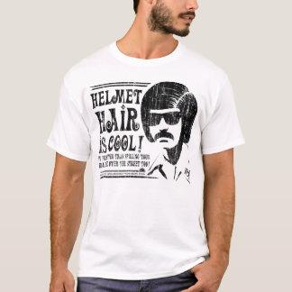 Camiseta ¡El pelo del casco es fresco! (negro del vintage)
