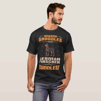 Camiseta El perro alemán del Pinscher de los Snuggles