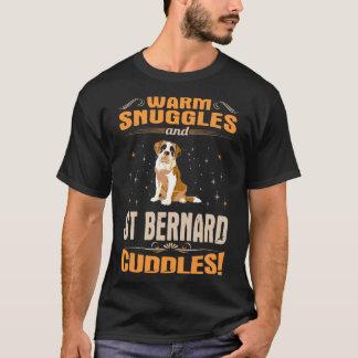 Camiseta El perro caliente de St Bernard de los Snuggles