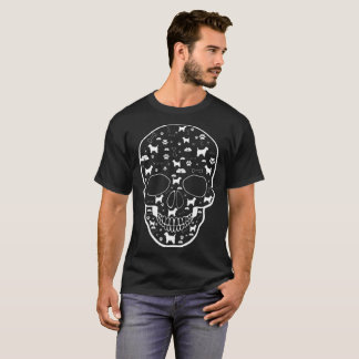 Camiseta El perro de Terrier de mojón en cráneo acaricia la