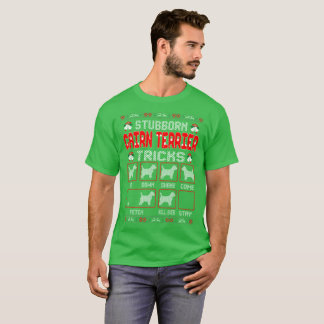 Camiseta El perro obstinado de Terrier de mojón engaña el