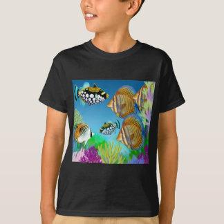 Camiseta El pescado pacífico del filón de Indo embroma la