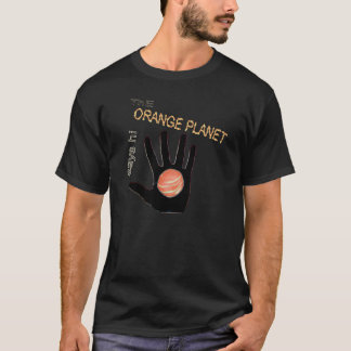 Camiseta el planeta anaranjado dice hola