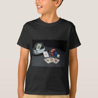 Camiseta El póker carda el gorra del gángster
