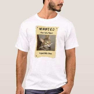 Camiseta El poster querido del amante del gato