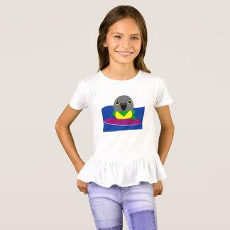 Camiseta el practicar surf del loro de Senegal del オウムパロット