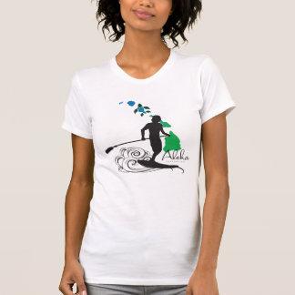 Camiseta El practicar surf en las islas 410 de Hawaii