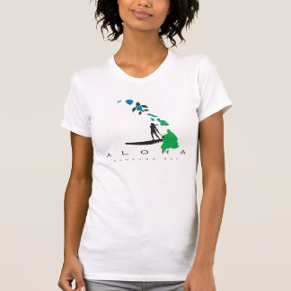 Camiseta El practicar surf en las islas 416 de Hawaii