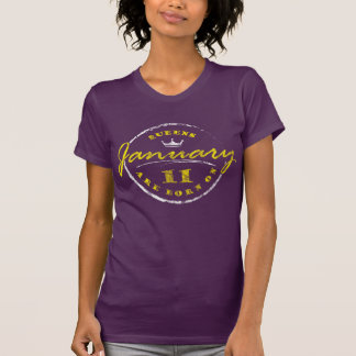 Camiseta El Queens nace el 11 de enero (lavado y llevado)