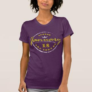 Camiseta El Queens nace el 18 de enero (lavado y llevado)