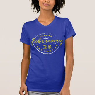 Camiseta El Queens nace el 28 de febrero (lavado y llevado)