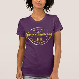 Camiseta El Queens nace el 31 de enero (lavado y llevado)