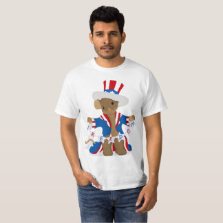 Camiseta El ratón patriótico ama el celebrar de la libertad