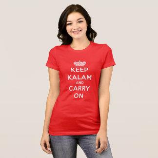 Camiseta El rojo guarda Kalam tranquilo y continúa la