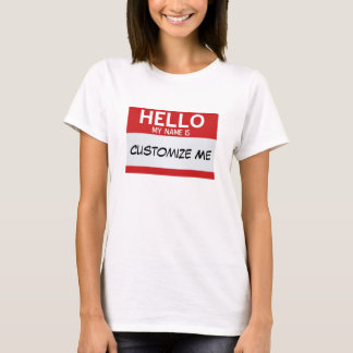 Camiseta El rojo hola mi nombre es… personalizable