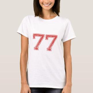 Camiseta El rojo se divierte Jerzee número 77