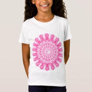 Camiseta El rosa floral de la flor embroma soldado