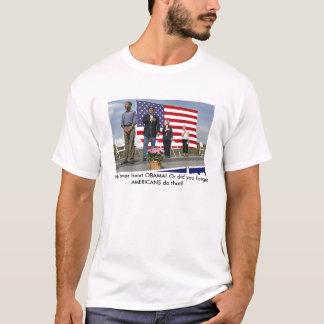 Camiseta ¡el saludo, entrega el corazón OBAMA! O usted