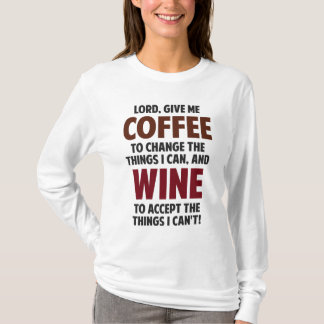 Camiseta El señor, me da el café y el vino