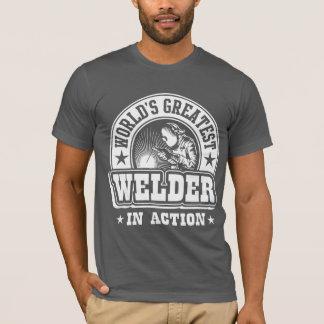Camiseta El soldador más grande del mundo en la acción
