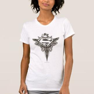 Camiseta El superhombre Stylized el logotipo del blanco de