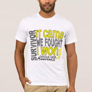 Camiseta El superviviente del cáncer testicular que vino