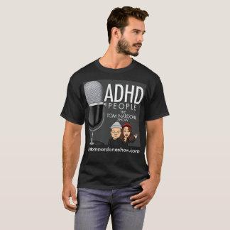 Camiseta El T negro de los hombres del LOGOTIPO de TTNS