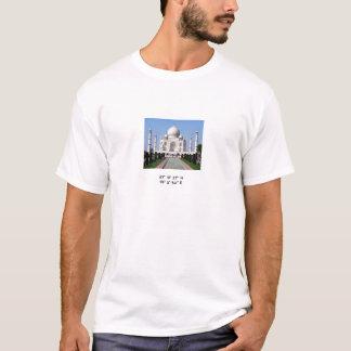 Camiseta El Taj Mahal con coordenadas