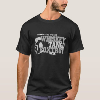 Camiseta El tango del whisky Foxtrot - humor de la aviación