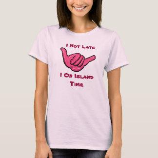 Camiseta El tanque hawaiano del tiempo de la isla del humor