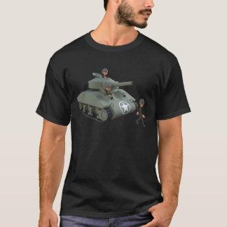Camiseta El tanque y soldados del dibujo animado que van