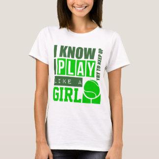 Camiseta El tenis del juego tiene gusto de un chica