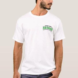 Camiseta El texto del logotipo en pescados delanteros