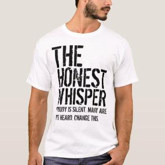 Camiseta El texto grande del susurro honesto