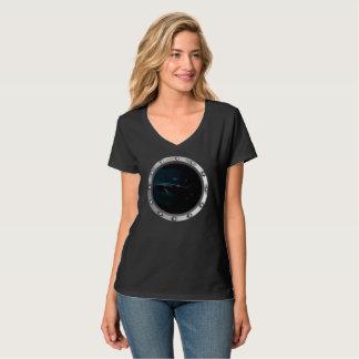 Camiseta El tiburón de Megalodon comparó a un gran tiburón