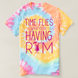Camiseta El tiempo vuela cuando usted está teniendo ron