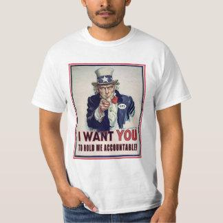 Camiseta El tío Sam apenas quiere ser sostenido