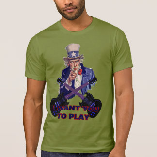 Camiseta El tío Sam quisiera que usted tocara la guitarra