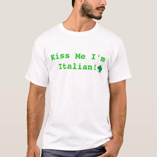 Camiseta ¡el trébol del dibujo animado, me besa que soy