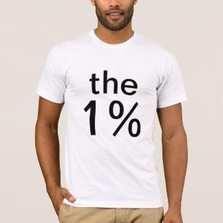Camiseta el un por ciento (el 1%) - anti-ocupe Wall Street