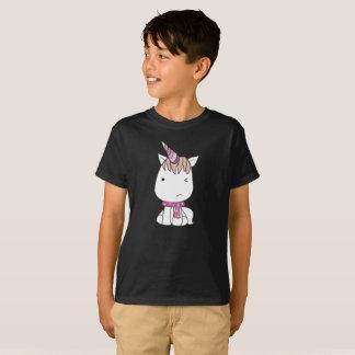 Camiseta El unicornio colorido blanco torpe lindo embroma