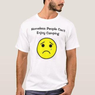 Camiseta El vagabundo no puede gozar el acampar