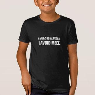 Camiseta El vegano social evita la reunión