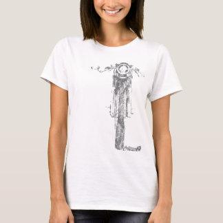 Camiseta El vintage de frente del corredor del café diseñó