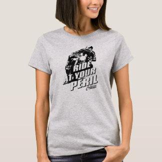 """Camiseta El vintage del corredor del café del """"peligro"""""""