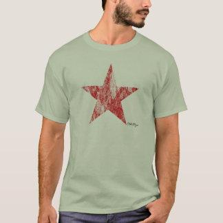 Camiseta El vintage rojo de la estrella del corredor del